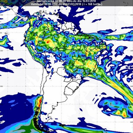 Previsão de chuvas dia 22 de março - Inmet