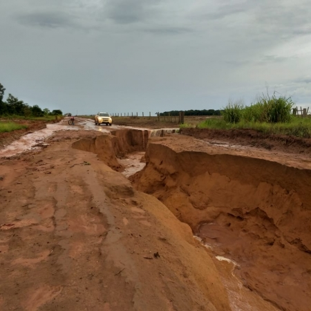 Chuva na madrugada desta sexta-feira (08) em Campo Novo do Parecis (MT)