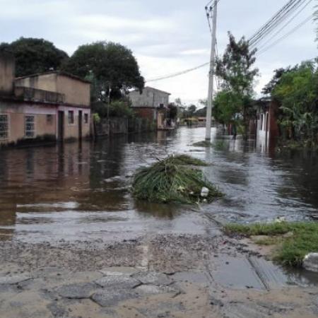 Enchente na cidade de Pilar (PY) - Foto: Ultima Hora