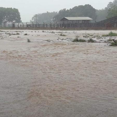 Chuva forte no final de semana na região de Sapezal (MT) - Foto: Reprodução/Redes sociais