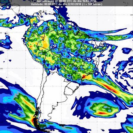 Previsão de chuvas dia 21 de março - Inmet