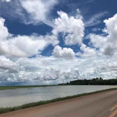 Clima chuvoso na região de Tapurah/MT. Foto enviada por Jonas Amalfi
