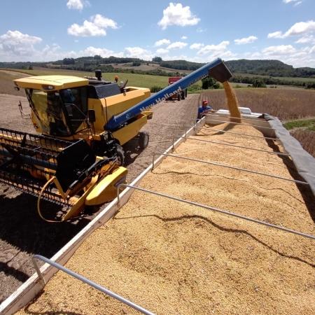 Colheita de soja em Irati (PR) - Tec. Agrícola Lucas Stroparo