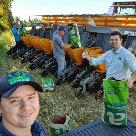 Plantio de milho, Ijuí-RS Tec. Agricola Ronaldo Bazzan e Jean Radin