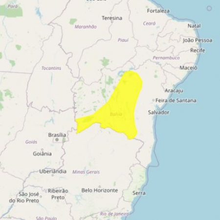 Alerta de chuvas - Bahia e Minas Gerais - Inmet - 0402