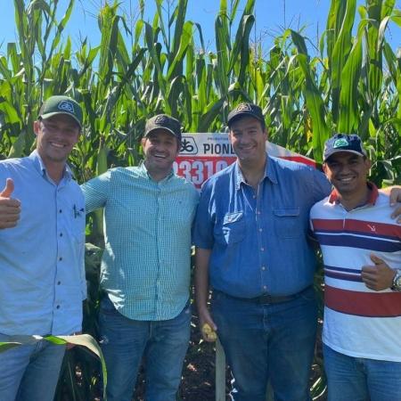 Tour de milho safrinha com a Família Pignataro em Aral Moreira (MS). Envio de Anderson Santos