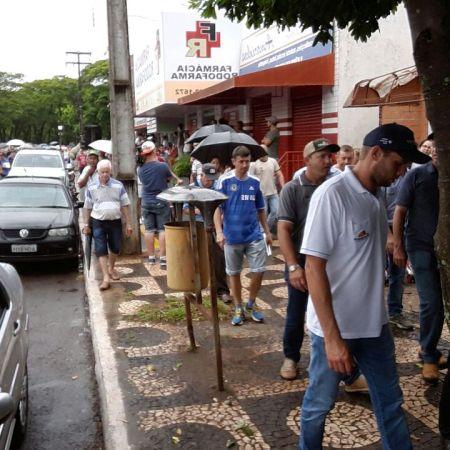 Protesto contra demarcação de terras indígenas em Guaíra/PR - Dezembro 2017