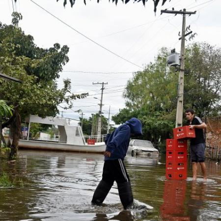 Rio Paraguai sobe 7 metros e causa danos para famílias - Foto: Ultima Hora