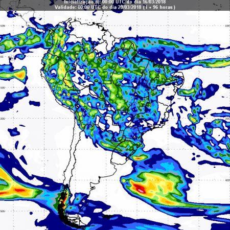 Previsão de chuvas dia 19 de março - Inmet
