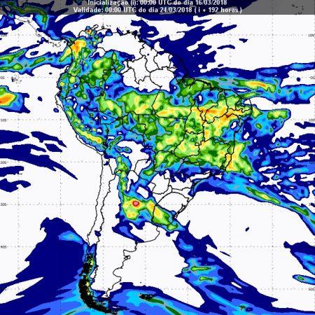 Previsão de chuvas dia 23 de março - Inmet