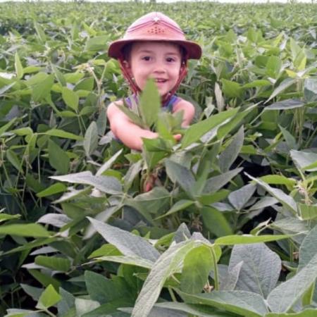 O pequeno João Gabriel na lavoura de soja em Taquarussu (MS) - Claudiney Bachiega