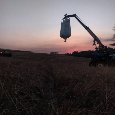 Plantio de milho concluído em Coqueiros do Sul (RS). Envio de Diênefer Eduarda Scherer