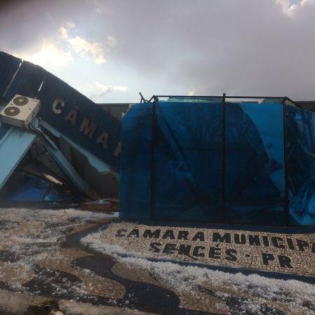 Chuva de granizo em Sengés (PR) - Foto: Frederico dAvila