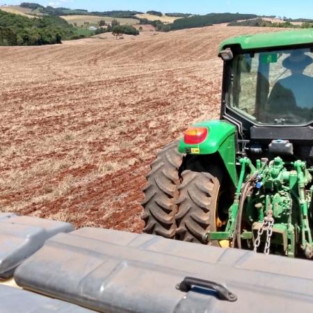 Plantio de soja na Fazenda Santa Maria da Família Bortolanza em Ciríaco (RS). Envio de Ricardo Bortolanza