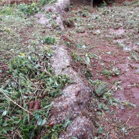 Chuva de granizo na região de Cidade Nueva Esperanza (Paraguai) - Foto: Divulgação/Redes Sociais
