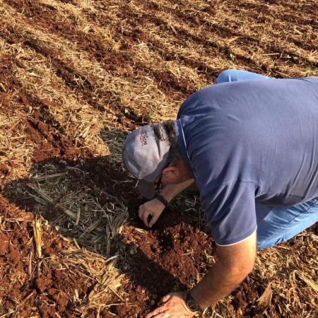 Início de plantio de soja. Fazenda consulta/Miguelopolis -SP. Irrigado. Propriedade de Gustavo Santana e família