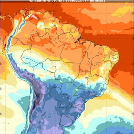 Temperatura semanal - Inmet - 04/05