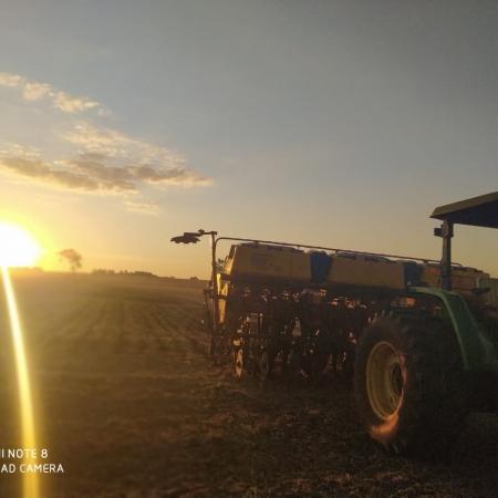 Plantio de milho safrinha em Aral Moreira (MS) - Valdeci dos Santos