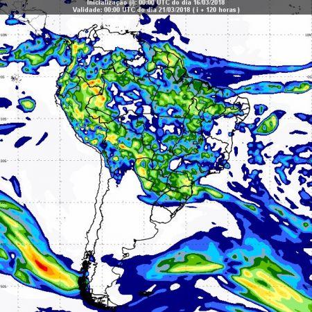 Previsão de chuvas dia 20 de março - Inmet