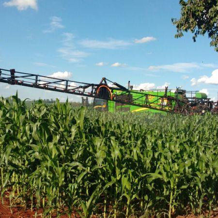 Aplicação de fungicida no pré-pendoamento em Novo Sarandi (PR). Envio do Téc. Agr. Lucas Orso