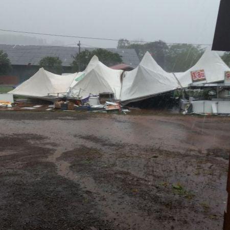 Chuva em Passo Fundo (RS) - Foto: Reprodução/Redes Sociais
