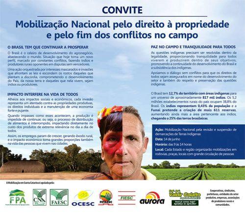 Convite Mobilização Nacional - 14.06.2013