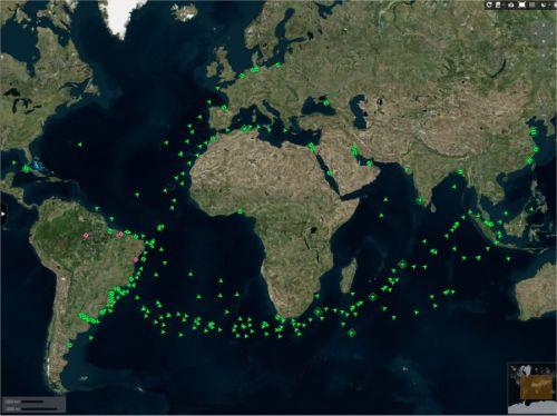 Fluxo de navios saindo do Brasil - Imagem: Reuters