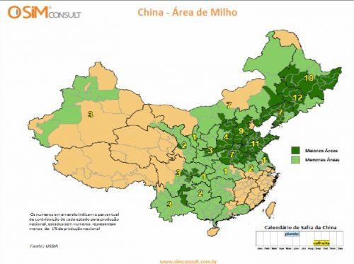 China - Área de Milho