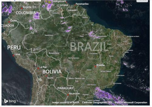 Brasil - Satélite - Fonte: AccuWeather