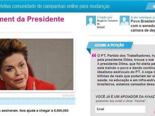 Petição online impeachment de Dilma