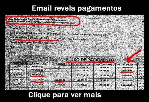 Email revela pagamentos
