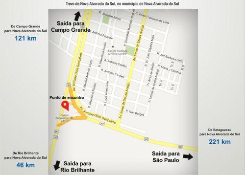 Mapa Manifestação em MS