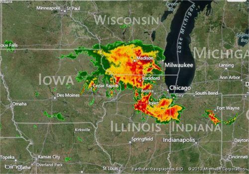 Imagem de Radar - Clima dos EUA