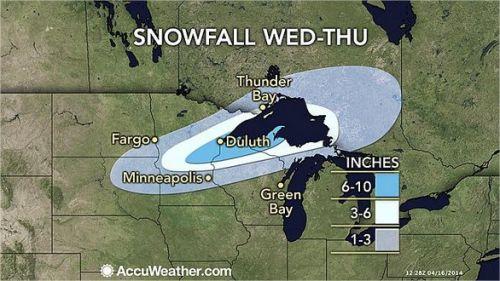 Neve nos EUA - Quarta e Quinta-feiras