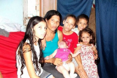 Família do agricultor Valmir Souza de Oliveira
