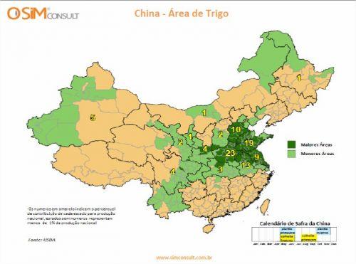 China - Área de Trigo