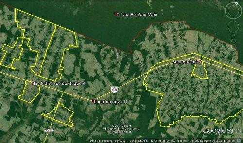 Questão indígena Rondônia - Mapa