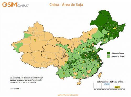 China - Área de Soja