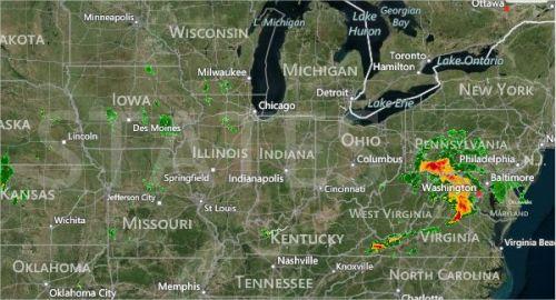 Imagem de Radar EUA - 23.08.2013