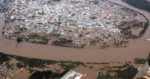 Chuvas no PR - Vista aérea de União da Vitória