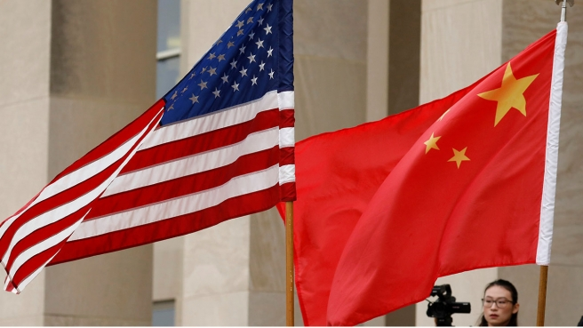 Bandeiras, EUA, China - 16:9