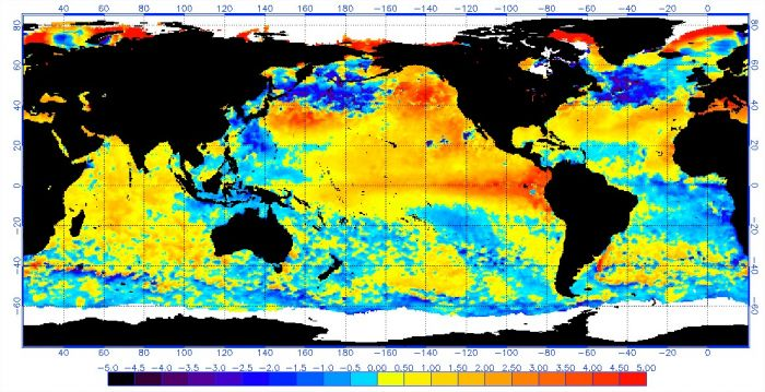 El Niño em 21 de julho de 2015 - Fonte: NOAA