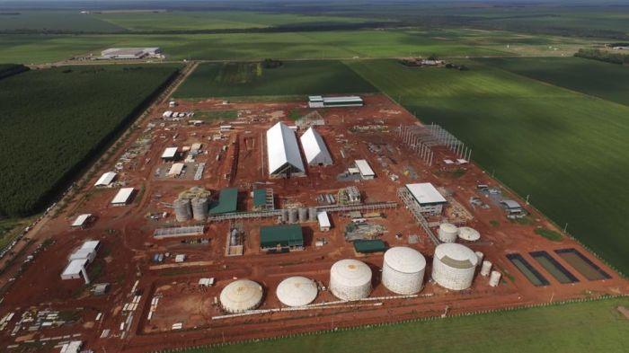 Usina FS Bioenergia, em construção, em Lucas do Rio Verde (MT)