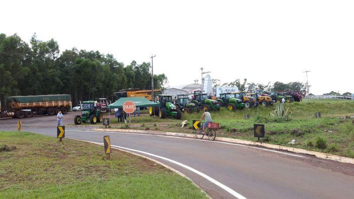 Protesto contra o emplacamento - Palmeira das Missões/RS