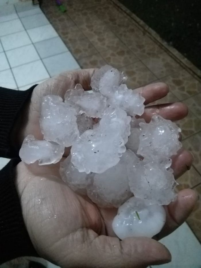 Chuvas de granizo no RS