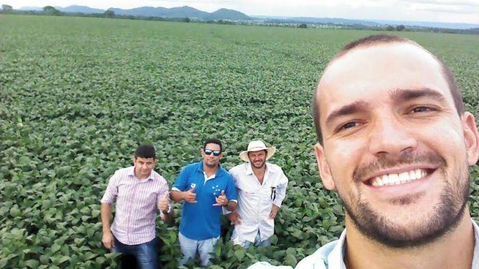 Imagem do dia - Produtores Paulo Frank, Claudinho, Marcelo e Rivanil. Envio de Marcelo Nunes