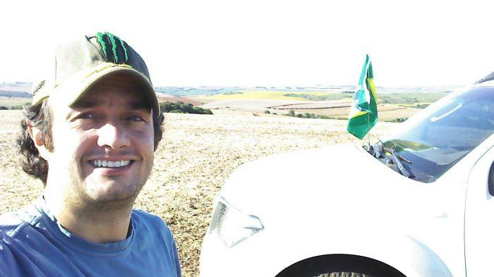 Imagem do dia - Colheita de Soja em Campos Novos (SC), na Fazenda Novo São Pedro, do produtor Jeferson da Rocha