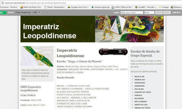 Imperatriz Leopoldinense Carnaval 2017 - Rio Carnival.net