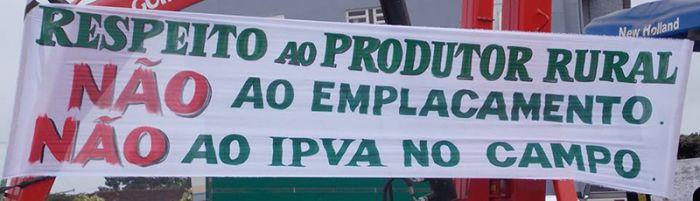 Protesto contra o emplacamento - Júlio de Castilhos/RS