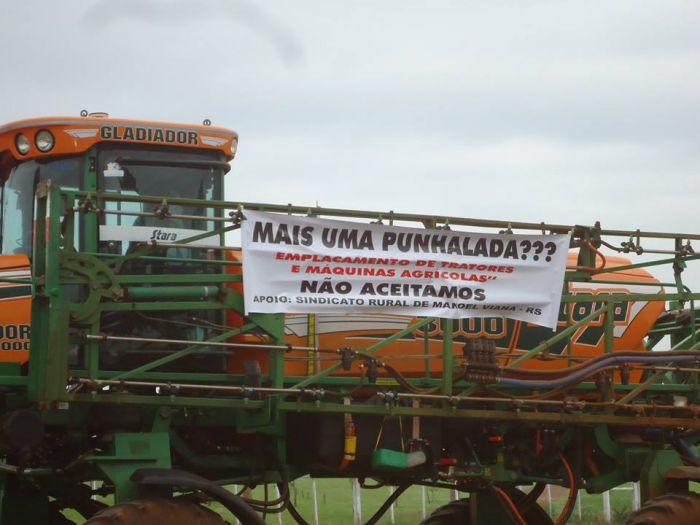 Protesto contra o emplacamento - Alegrete/RS